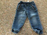Cherokee Girls Blue Pants with Zipper Pockets 18M