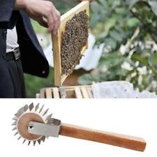 Honey Uncapping Roller Extracting Needle Roller Bee Comb Beekeeping Tool Set New