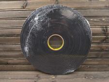"3M 4714 Vinyl Black Single Sided Adhesive Foam Tape 1/2"" w x 18 yds 1/2"" thick"
