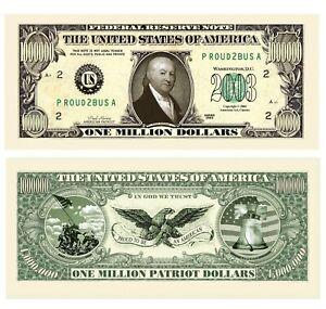 Pack of 100 - Paul Revere American Patriot Million Dollar Bills