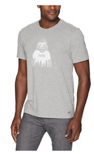 Life is Good Mens Papa Bear Short Sleeve Crew Neck T Shirt Gray Size Small New