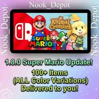 SUPER MARIO UPDATE - 1.8 ALL Items Animal Corssing Horizons 100+ ALL COLORS