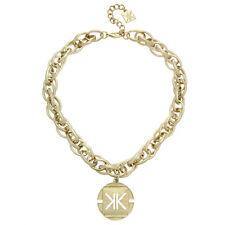 Kardashian Kollection KK Chunky Coin Collar Necklaces