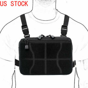 Tactical Combat Chest Rig Concealed Front Pouch Recon Kit Pack Molle Tools Bag