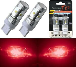 LED Light 30W 7440 Red Two Bulbs Front Turn Signal Replacement Upgrade Show