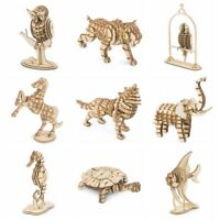 Rolife 3D Wooden Puzzle DIY Animal Model Laser Cut Toy Gift for Kids Boys Girls