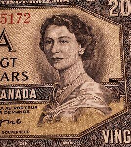 1954 Canada $20 Banknote. PMG Verified. GEM UNCIRCULATED. EPQ.