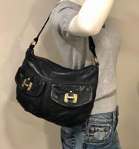 FOSSIL Black Leather Hobo Shoulder Bag