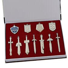 The legend of zelda weapon sword shield set necklace pendant key rings blade hot
