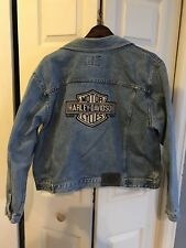 LADIES' WOMEN'S HARLEY DAVIDSON DENIM JEAN JACKET SIZE XL