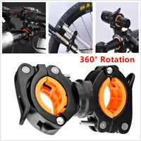 Bicycle Torch Clip Mount Flashlight Holder Bike Clamp Light Bracket 360° no-slip