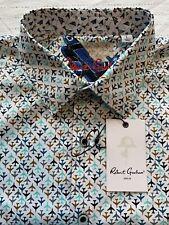 ROBERT GRAHAM Oriole S/S Airplane Print Classic Fit Shirt - Men's (L) Large