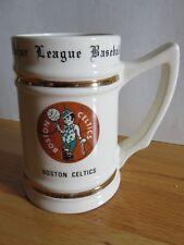 "Vintage 70s Boston Celtics 6"" Ceramic Mug John Havlicek Dave Cowens Paul Silas"