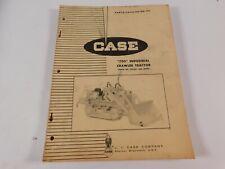 Vintage Original 1963 Case 750 Crawler Tractor Parts Manual Book Catalog List