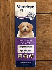 Vetericyn + Antimicrobial Plus Eye Wash 3 fl oz -safe For All Animals. New!