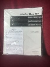 MOTU - User Guide for 1248 / 8m / 16a - Brand New