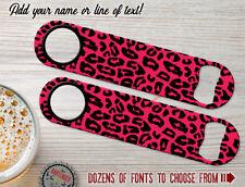 Animal Print Cheetah Personalized Bartender Bar Blade Custom Speed Bottle Opener