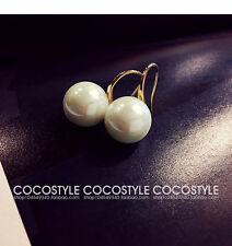 Boucles d`Oreilles Doré Perle Blanc 13mm Class Mariage BB15