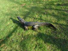 Krokodil Figur 117 cm  Deko Garten Gartenfigur Alligatoren  Kaiman