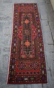1'8 x 5'4 Ft, Vintage handmade afghan turkmen jalar runner rug, Unique wool rug