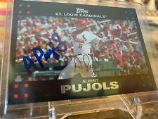 * Autographed GOAT Albert Pujols 2007 Topps 130 STL Cardinals w COA *