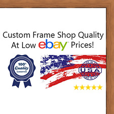 """8x10 Flat Walnut Brown Wood Frame - """"The Edge"""" Thin - Great for Posters, Photos,"""