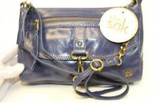 The Sak Ventura NEW $119 Petite Dark River Blue Leather Crossbody Shoulder Bag t