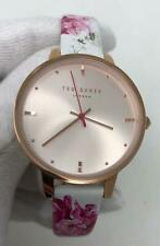 Ted Baker 36mm Rose Gold Dial Floral Leather Women's Watch Set TE50647013
