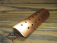 Hitzeschild Exhaust heat shield antique copper drilled für Bobber