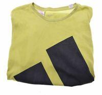 ADIDAS Boys T-Shirt Top 13-14 Years Green Cotton Vintage LI37