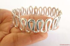 Sterling Silver No Stone 925 Cuff Bangle Bracelet
