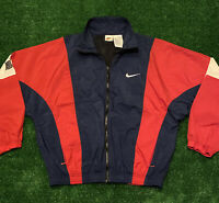 Vintage 90's Nike Check Windbreaker Jacket Sz Mens Small White Tag Color Block