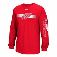 """NHL Reebok """"Jersey Crest"""" Team Primary Logo Long Sleeve T-Shirt Collection Men's"""