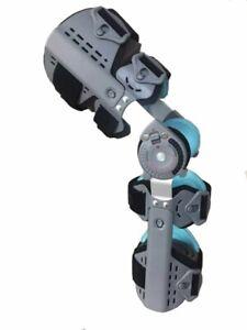 Inspired Bregg Telescopic Post Op ROM Leg Hinged Knee Brace Adjustable Universal