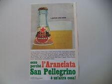 advertising Pubblicità 1967 ARANCIATA AMARA S. SAN PELLEGRINO