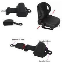 Universal Retractable 2 Point Seat Belt Lap Auto Car Truck Safety Seat Belt Kit
