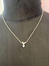 Silver Coloured Diamanté Drop Necklace Chain