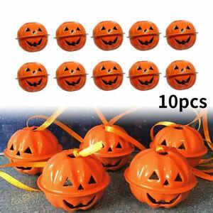 10PCS 4CM Halloween Pumpkin Bells Hanging Tree Outdoor Home Party Decorations
