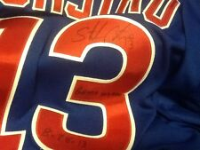 Starlin Castro GAME USED JERSEY AUTOGRAPH Chicago Cubs Baseball New York Yankees