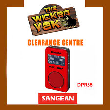Sangean Stereo DAB+/FM-RDS Pocket Digital Radio Re-chargeable DPR-35 RED-NEW