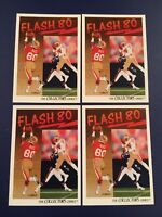 1991 Upper Deck # 86 JERRY RICE Flash 80 San Francisco 49ERS Lot 4 Great Cards !