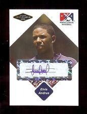 ELVIS ANDRUS Texas Rangers 2005 Certified AUTOGRAPH Baseball Card RC