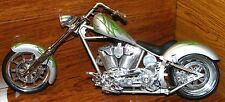 Orange County Choppers OCC Green & Silver Chopper Die Cast Bike Toy Zone Inc.