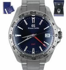 MINT 2020 Grand Seiko GMT Blue 39mm Stainless Steel SBGN005 G Quartz Men's Watch