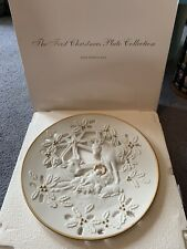 Lenox Fine Porcelain Christmas Collector Plate 1994 The Nativity Animals