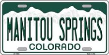 MANITOU SPRINGS Colorado State Background Metal Novelty License Plate Front Tag
