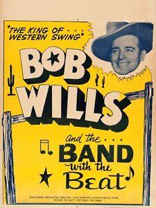 "Bob Wills 16"" x 12"" Photo Repro Concert Poster 2"