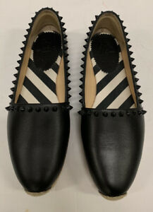 """Christian Louboutin Spike Black Espadrille """"Ares"""" Flats - Size 38"""