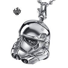 Silver Star Wars A New Hope EFX Replica Stormtrooper Helmet s steel necklace