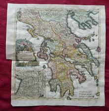 Grecia Greece Cefalonia Macedonia RAME scheda chiave d 'Anville Rollin 1757